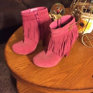Andrea pink boots size 7 women